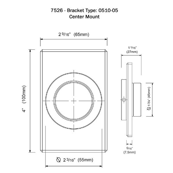 7526 Dimensional Drawing