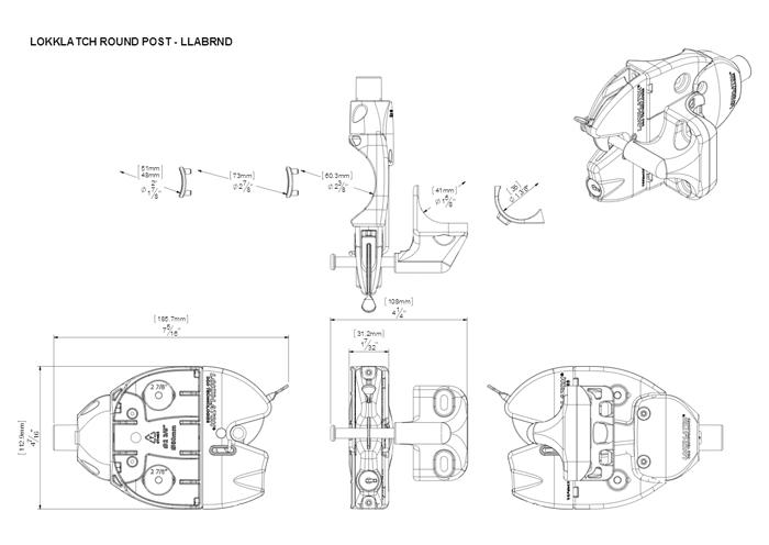 LLABRND Dimensional Drawing