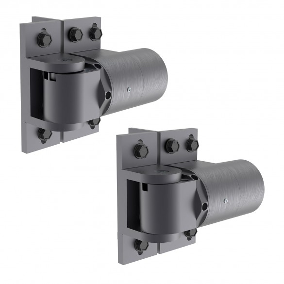 D&D SureClose ReadyFit 180° Heavy-Duty Self-Closing Weld-On or Screw-On Gate Hinge-Closer Set - Steel (Pair) 74108335T
