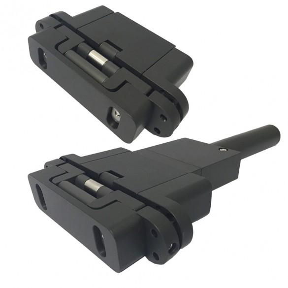 D&D SureClose ConcealFit Hydraulic Door Closer With Plain Door Hinge Kit - 77108523