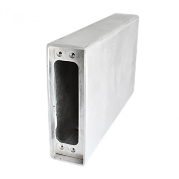 D&D SureClose ConcealFit Gate-Side Gate Weld Box For Hinge-Closer - Aluminum - 7811S