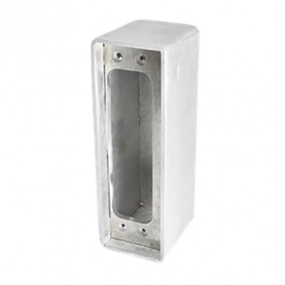 D&D SureClose ConcealFit Gate-Side Gate Weld Box For Hinge - Aluminum - 7812S