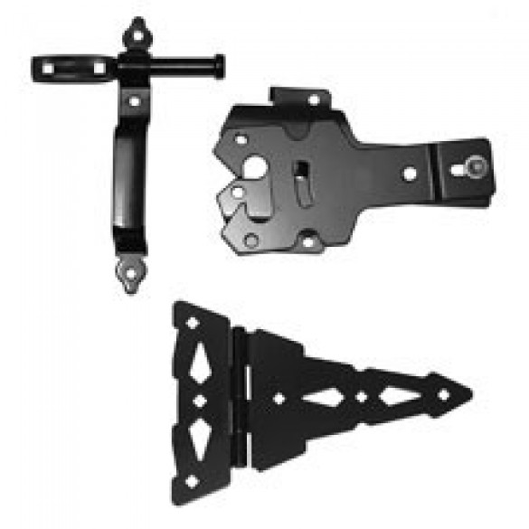 "D&D Metal Contemporary Walk Gate 8"" Strap Hinge Kit - 810005"