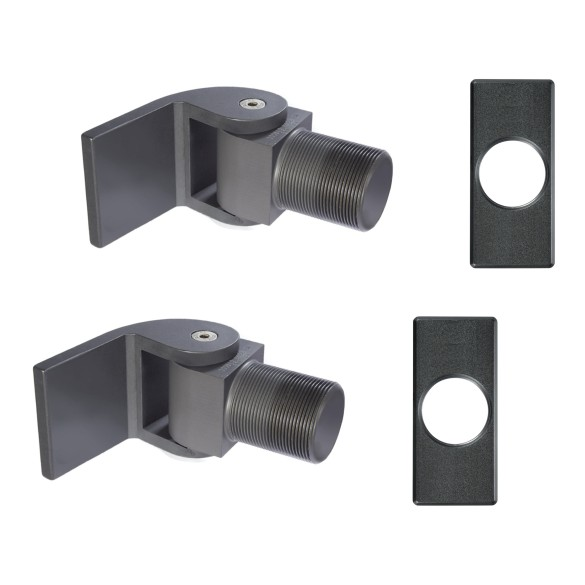 D&D SureClose Non Self-Closing Flush Mount Hinge Kit With W-Hinges And Brackets, SM AT90 W - 77001214