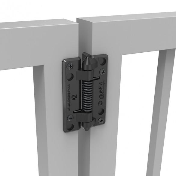 D&D KwikFit Polymer Self-Closing Fixed Tension Gate Hinge - KF3S (Pair)