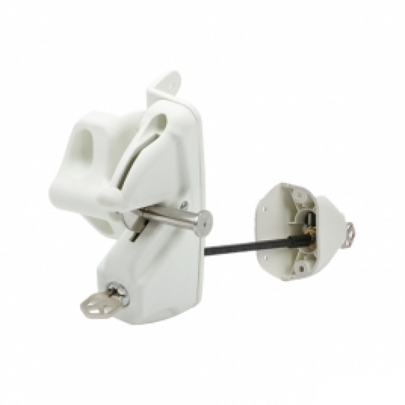 D&D LokkLatch Deluxe White Privacy & Security Latch + EAK - LLDABW-KSA