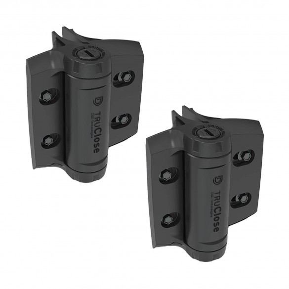 D&D TruClose Heavy Duty Self-Closing Gate Hinges (Round Posts) - TCHDRND1S3 (Pair)