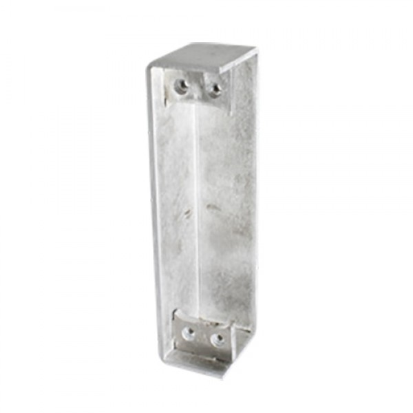 D&D SureClose ConcealFit Post Side Weld Box For Hinge-Closer And Hinge - Aluminum - 7813S