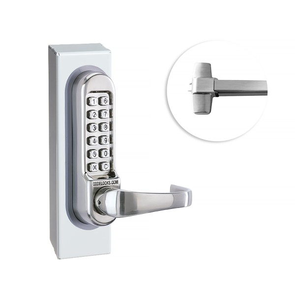 CodeLocks CL500 Gate Panic Exit Hardware Kit For CL510 and CL515 (Stainless Steel) - 97425