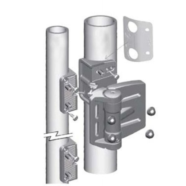 D&D MagnaLatch Series 2 Round Post Adaptor Kit - MLS2RPAKA