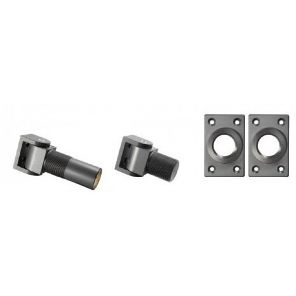 D&D SureClose Self-Closing Hydraulic Center Mount Hinge-Closer Kit w/ S-Hinges And Brackets, 108 S  - 77108113