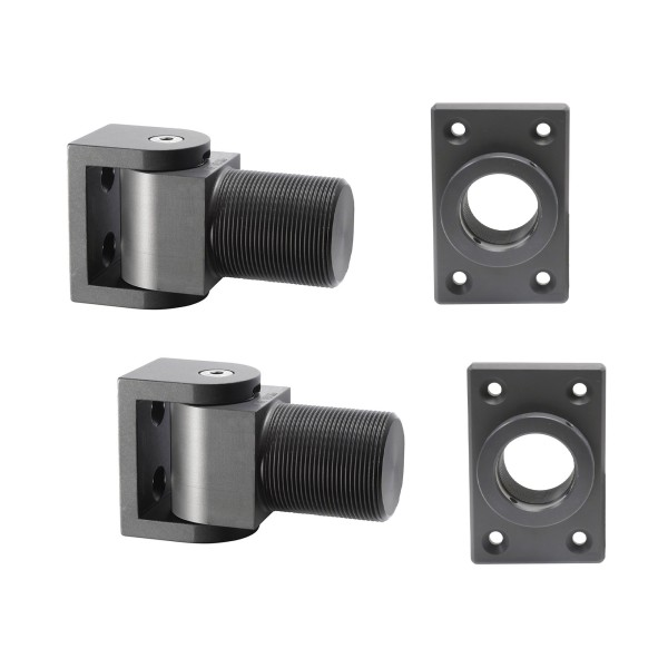 D&D SureClose Non Self-Closing Center Mount Hinge Kit With SM AT90 S Thrust Bearing Hinges And Center Mounting Brackets - 77001113