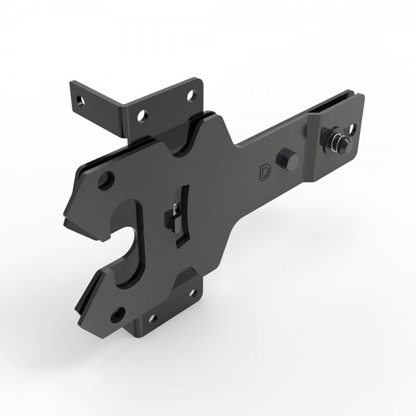 D&D Black Powder Coated Stainless Steel Contemporary Post Latch - DDSLM