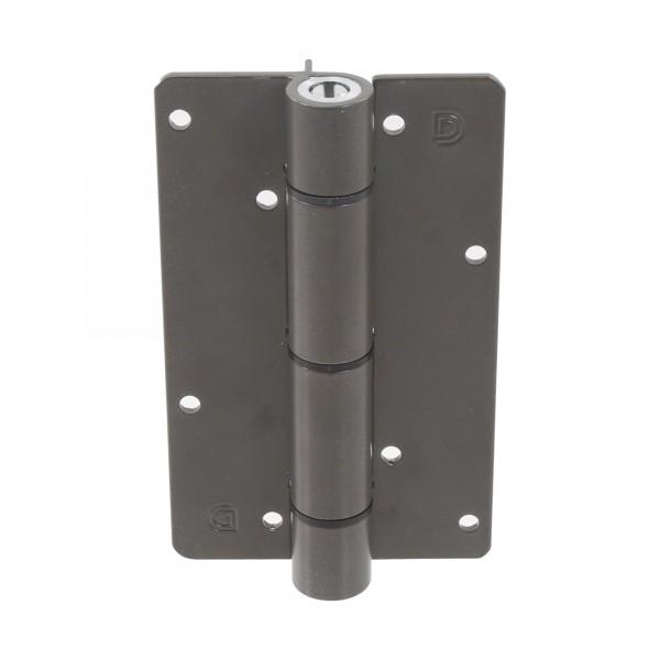 Aluminum Adjustable Self-Closing Gate Hinge, Aluminum Ridges, No Screws - D&D KF3BR (Single) - Bronze