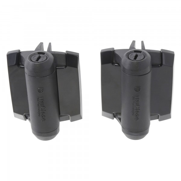 D&D TruClose Standard Gate Hinge, 2 Side Legs - TCA1L2S3BT (Pair)