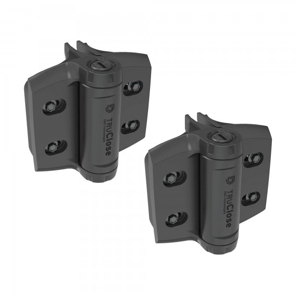 D&D TruClose Heavy Duty Self-Closing Gate Hinges (Round Posts) - TCHDRND2S3 (Pair)