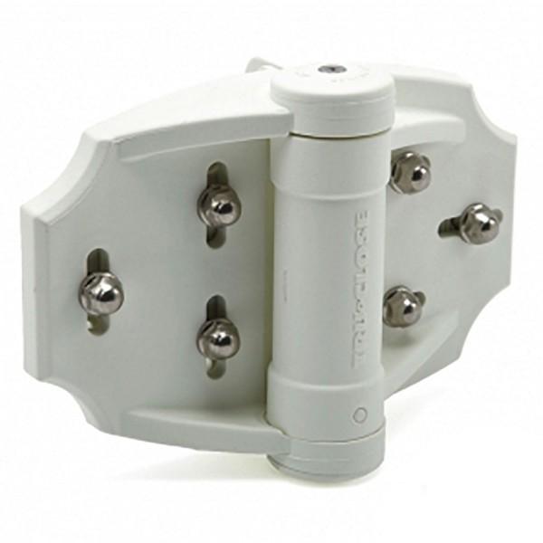 D&D TruClose Heavy Duty White Adjustable Gate Hinge - TCHDMA1WT (Pair)