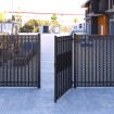 D&D SureClose ReadyFit 180° Heavy-Duty Self-Closing Screw-On Gate Hinge-Closer Set - Aluminum (Pair) 74108333T (Installation Shown)