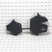 D&D LokkLatch Pro-SL Black Self Locking Security Latch For Vinyl Gates - LLP2S-K (Grid Shown For Scale)