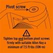 D&D SureClose SM S 90° Center Mount Horizontally Adjustable Thrust Bearing Hinge - 75001113 (Pivot Screw Instructions)